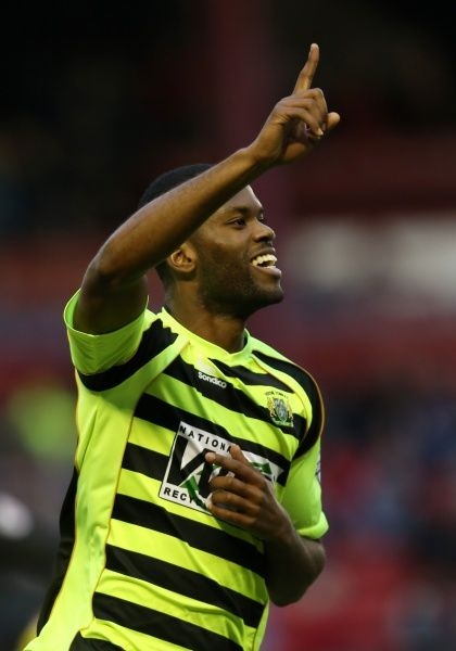 Yeovil Town's Joel Grant celebrates scoring the first goal - Photo mandatory by-line: Matt Bunn/JMP - Tel: Mobile: 14/12/2013 - SPORT - Football - Barnsley - Oakwell - Barnsley v Yeovil Town - Sky Bet Championship