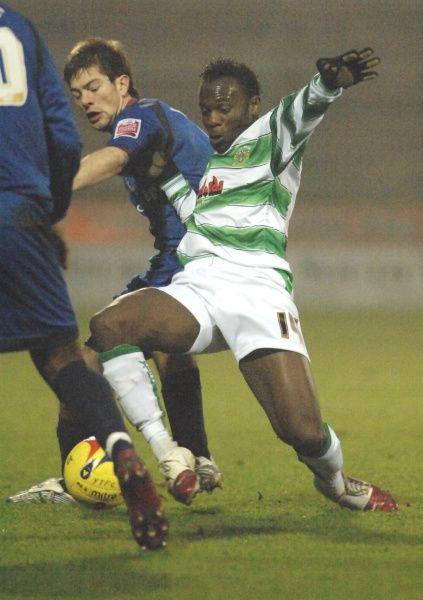 Jean Paul Kalala tackles against Bradford City in Coca-Cola League 1 action. 23rd December 2006