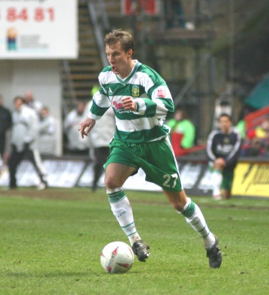 Andrejs Stolcers makes a forward run against Charlton Athletic. 29th January 2005